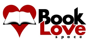 Logo with Book Love Space and illustration of book over a heart
